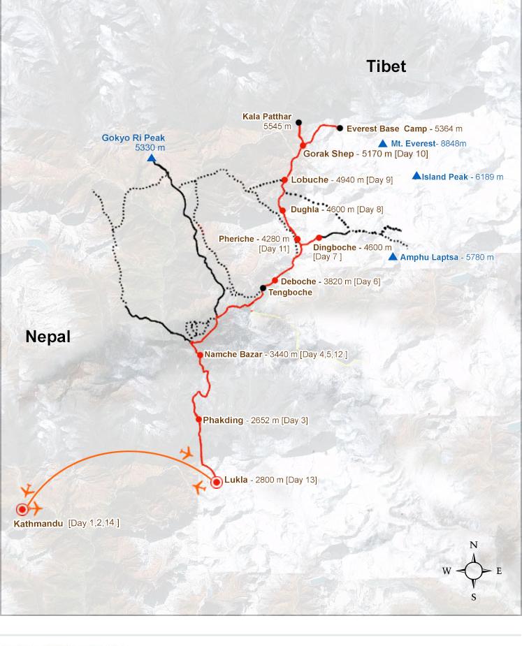 Everest Base Camp trek cost, Everest kala patthar trek itinerary ...